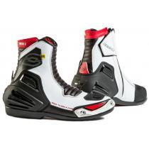 Topánky na motorku Ozone Urban II CE čierno-bielo-červené