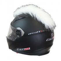 Číro na helmu biele