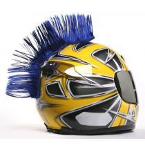 Číro na helmu modrej