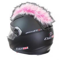 Číro na helmu ružovo-biele