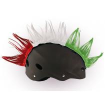 Číro na helmu Wiggystyle červeno / bielo / zelené