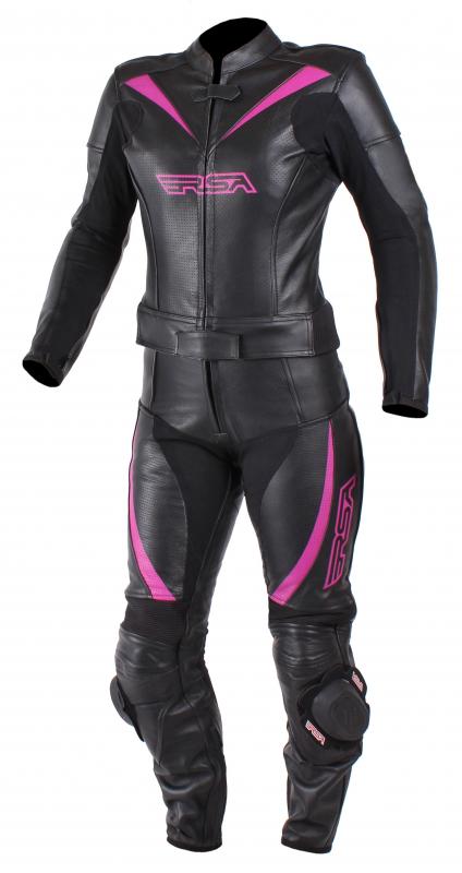 65ae70de5580 Dámska kombinéza na motocykel RSA Destiny 2 čierno-ružová vypredaj ...