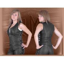 Dámska kožená vesta Ledmar-M-05 so šnurovaním