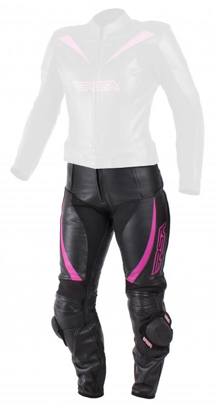 476769e1f116 Dámske nohavice na motocykel RSA Destiny 2 čierno-ružové výpredaj ...