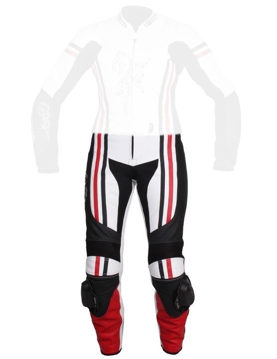 976fb8ebd2bf Dámske nohavice Tschul 554 bielo-čierno-červené vypredaj ...