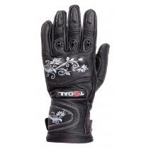 Dámske rukavice na motorku Tschul 301 čierne