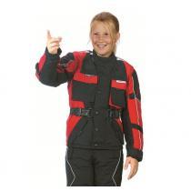 Detská bunda na motorku Roleff čierno / červená