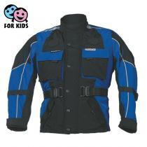 Detská bunda na motocykel Roleff čierno/modrá