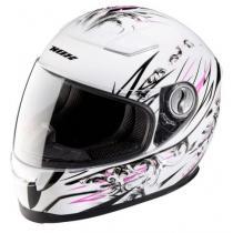 Detská integrálna prilba NOX N682K Lolly bielo-ružovo-čierna