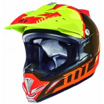 Detská motokrosová prilba na motorku MT MX-2 Spec fluo oranžovo-žltá