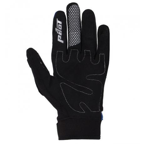 Detské mx rukavice na motorku Pilot čierne