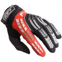 Detské mx rukavice na motorku Pilot čierno-červené
