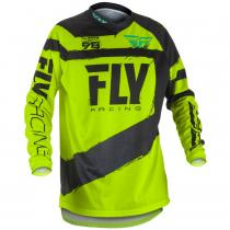 Detský motokrosový dres FLY Racing F-16 2018 - USA čierno-fluo žltý