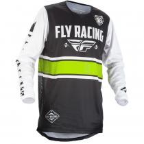Detský motokrosový dres FLY Racing Kinetic ERA 2018 - USA bielo-čierny