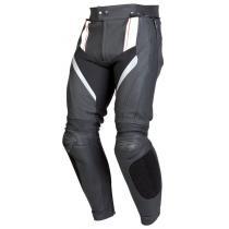 Kožené nohavice na motorku Ozone Grip - čierno / biele