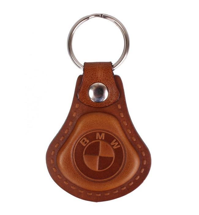 Kožený prívesok na kľúče BMW hnedý  62054087f02