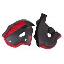 Lícnicovej výstelky pre prilby na motorku RSA TR-01 - červené