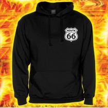 Mikina s motívom Route 66 s kapucňou