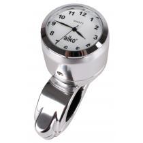 Moto hodiny s bielym ciferníkom