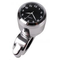 Moto hodiny s čiernym ciferníkom