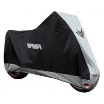 Moto plachta na motocykel RSA čierno-strieborná