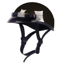 Moto prilba Braincap-HR-9 čierna lesklá