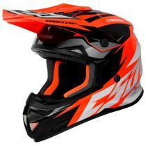 22738c5764aca Motokrosová prilba Cassida Cross Cup Two čierno-bielo-šedo-fluorescenčno  oranžová