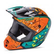 Motokrosová prilba FLY Racing Kinetic CRUX - USA oranžovo-tyrkysovo-čierna
