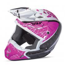 Motokrosová prilba FLY Racing Kinetic CRUX - USA ružovo-čierno-biela