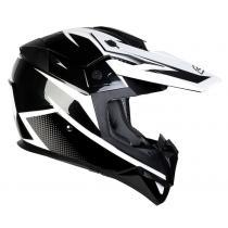 Motokrosová prilba na motorku Ozone FMX čierno-biela