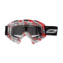 Motokrosové okuliare Ozone MX Mud červeno-sivé