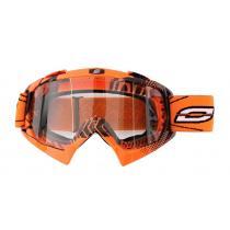 Motokrosové okuliare Ozone MX Mud oranžové