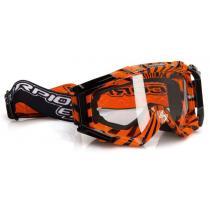 Motokrosové okuliare Scorpion E15 oranžovo-čierne