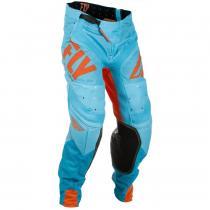 Motokrosové nohavice FLY Racing LITE 2018 - USA oranžovo-modré