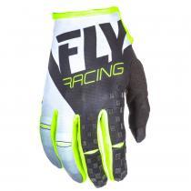 Motocrossové rukavice FLY Racing Kinetic 2018 - USA čierno-bielo-fluo žlté