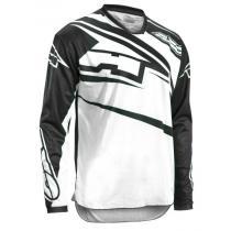 Motokrosový dres AXO SR Jersey čierno-biely