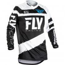 Motokrosový dres FLY Racing F-16 2018 - USA čierno-biely