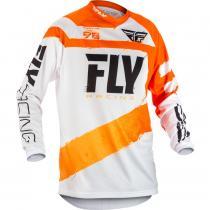 Motokrosový dres FLY Racing F-16 2018 - USA oranžovo-biely