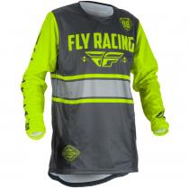 Motokrosový dres FLY Racing Kinetic ERA 2018 - USA šedo-fluo žltý