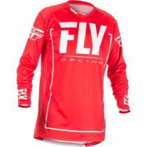 Motokrosový dres FLY Racing LITE 2018 - USA červeno-biely