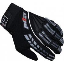 MX rukavice na motorku Pilot čierne
