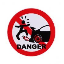 Nálepka DANGER CAR