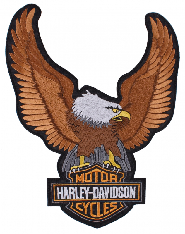 0c829629b Nášivka Orol Harley Davidson - veľká   Motozem.sk
