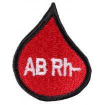 Nášivka s krvnou skupinou kvapka AB Rh-