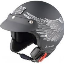 Otvorená prilba na moto Nexx X 60 Eagle Rider čierno-strieborná