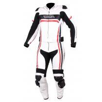 9225c94cacc39 Pánska kombinéza na motocykel RSA Virus bielo-čierno-červená vypredaj  výpredaj