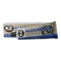 Pasta na čistenie a leštenie kovových povrchov K2 aluchrom 120g