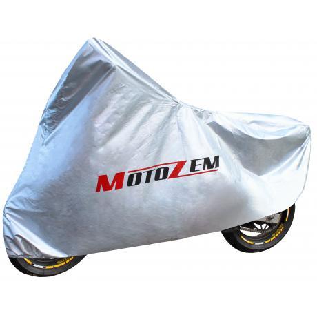 Pokrývka na motorku Motozem - strieborná