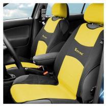 Poťah sedadla TRIKO 2ks žltý
