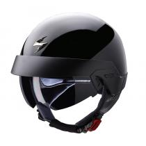 Prilba na motorku Scorpion EXO-100 čierna lesklá